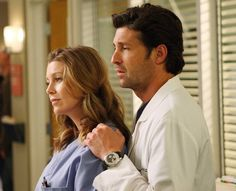 """Ellen Pompeo tells """"Entertainment Weekly"""" that she wouldn't want McDreamy to return to """"Grey's Anatomy. Greys Anatomy Derek, Greys Anatomy Funny, Grays Anatomy, Cristina Yang, Greys Anatomy Episodes, Nc Wedding Venue, Wedding Dress, Bff, Tv Show Couples"""