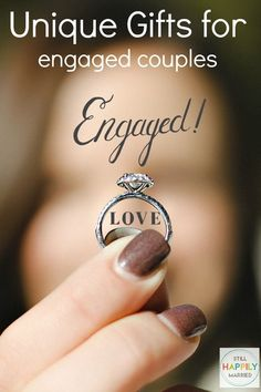 Unique Gifts for the engaged couples Unique Gifts For Couples, Couple Gifts, Engagement Gifts For Couples, Engagement Couple, Marriage Tips, Love And Marriage, Disney Wedding Gifts, Bridal Shower, Fun Ideas
