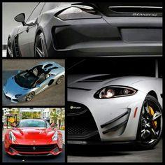 Porsche, Lamborghini, Jaguar and Ferrari
