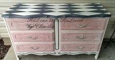 """""""Harley"""" The Harlequin Pattern Painted Dresser    It occurred to me that I have been painting """"boy themed"""" dressers and have been l..."""