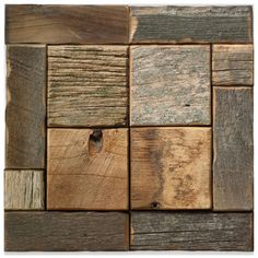 Find it at the Foundary - Linden Pattern Reclaimed Barnwood Tiles - Natural Wood Wall Tiles, Barn Wood Projects, Reclaimed Barn Wood, Woodworking, The Incredibles, Planks, Wood Work, Cool Stuff, Interior Ideas