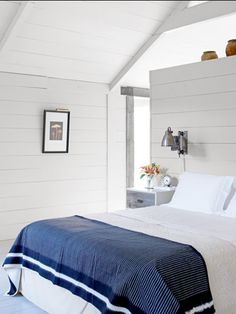 Cottage bedroom.. oh yes!  Traditional Farmhouse Decorating Ideas - Farmhouse Design Ideas - Country Living