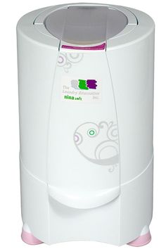 Nina Soft Spin Dryer: Spin dries clothes in fewer than 3 minutes. Perfect for city living and cloth diapering in an NYC apartment! Laundry Alternative, Small Washing Machine, Small Studio Apartment Design, Spin Dryers, Rv Upgrades, Camper Life, Campers, Portable House, Rv Makeover