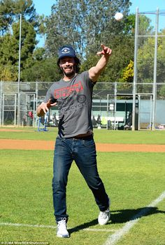 Good arm! Keanu smiled while watching his pitch soar ahead of him...