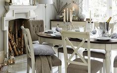 Emily Dining Table and Four Crossback Chairs