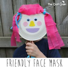 Friendly Face mask - an activity from Playing With Purpose ebook by Moments A Day | The Craft Train