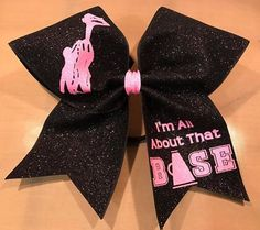 All About That Base Cheer Bow - Custom Glitter Cheer Bow - Cheerleading Bow - Competition Bow - Etsy - Cheerleading Hair Bows, Cheerleading Quotes, Cheer Quotes, Cheer Stunts, Cheer Sayings, Sport Quotes, Cheer Practice Outfits, Cheer Outfits, Cute Cheer Bows
