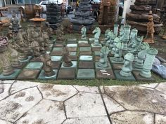 Incredible chess set for your yard at the Fresno Home & Garden Show, March 2016