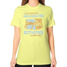 MURCH ROOM FOR ACTIVITIES Unisex T-Shirt (on woman)