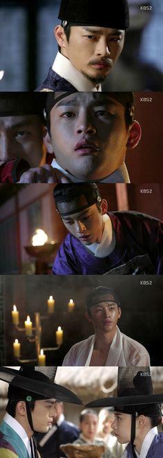 """(서울=뉴스1스포츠) 이한솔 기자 = '왕의 얼굴'이 흥미진진한 스토리로 첫 방송을 시작했다.19일 밤 10시 첫 방송된 KBS2 수목드라마 '왕의 얼굴'은 """"군주의 ..."""