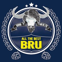 Best Bru greeting card for Kinky Rhino Greeting Cards in South Africa #greetingcard #southafricancard #southafrica #card #thinking of you #beer #bru #beer lable #south #africa #hipster