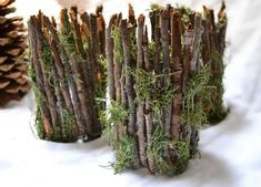 nice Rustic Twig Candle Holders - Woodsy Weddings, Home Decor, Gift Item (Set of o. Enchanted Forest Prom, Enchanted Garden, Enchanted Forest Decorations, Forest Bedroom, Woodsy Wedding, Wedding Ideas, Rustic Weddings, Deco Champetre, Forest Party