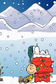 Cartoon Snoopy Christmas #iPhone #4s #wallpaper Merry Christmas !!!