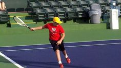 Ball Kid Practice at Indian Wells