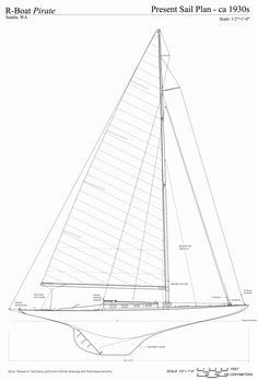 Free ship plans, R-boat, Pirate, racing, sailboat, yacht