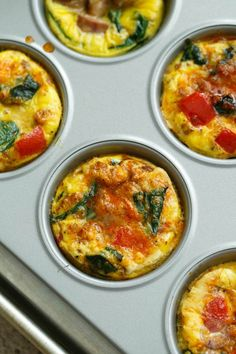 Easy egg cup muffins are the ideal breakfast for those on the go! Filled with delicious toppings and lots of protein! These egg cups are the perfect paleo-friendly breakfast.