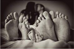 Mommy + Daddy + Baby Feet