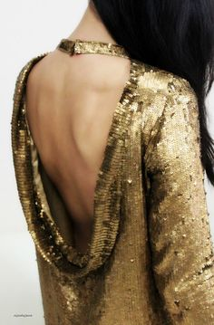 Backless Sequin Dress / Winter Kate