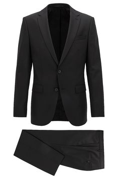 Mercedes-Benz Virgin Wool Blend Suit, Slim Fit | Nobar/Beil MB Black from BOSS for Men for $845.00 in the official HUGO BOSS Online Store free shipping