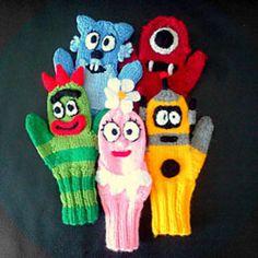 Ravelry: Yo Gabba Gabba mittens! pattern by Sylvia Lai
