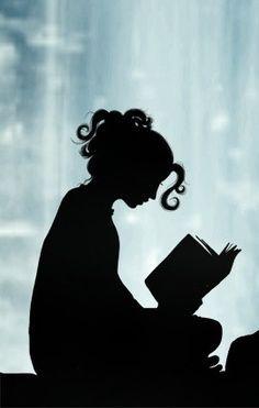 woman reading sillohette - Google Search