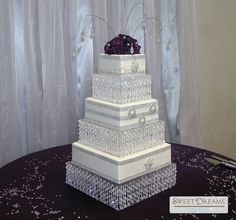 Crystal wedding cake #2 - By: sdcakes1 -   http://cakecentral.com/gallery/2333630/crystal-wedding-cake-2
