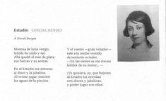 """Su amor por el deporte fue tal, que escribió un poema: """"Estadio"""", y se lo dedicó a su amiga Norah Borges. Amor, Silver Age, Writers, Poems, Sports, Women"""