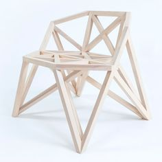 Bridge furniture by Variant Studio. The geometric patterns of bridge structures informed the shapes used to create this wooden furniture by Variant Studio.  Variant Studio has scaled down the shapes and replaced metal with birch to form the Bridge collection. http://www.dezeen.com/2014/09/04/bridge-wooden-furniture-bench-variant-studio/