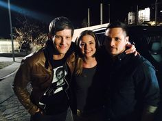 Gabriel Mann, Emily VanCamp, and Nick Wechsler
