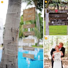 this site has such cute ideas for wedding signage