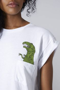 Photo 5 of Dinosaur Pocket Tee by Tee and Cake @gtl_clothing #getthelook http://gtl.clothing
