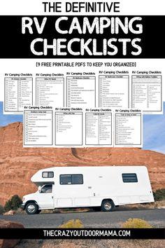 Camping Ideas, Camping Hacks, Checklist Camping, Rv Camping Checklist, Travel Trailer Camping, Camping Packing, Camping Supplies, Diy Camping, Camping Essentials