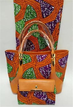 African Print handbags PLUS 6yard African wax cotton ankara prints fabric