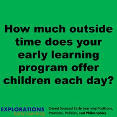 Early Learning Question...