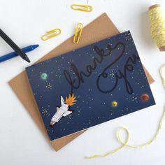 Thank You Space Shuttle Card by HannahStevensShop on Etsy