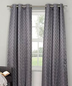 Look what I found on #zulily! Silver Southport Diamond Thermal Curtain Panel - Set of Two #zulilyfinds