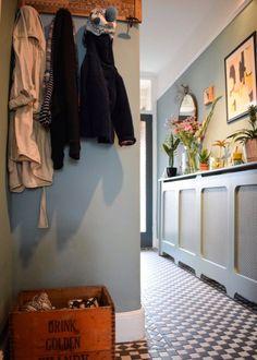 vintage bohemian eclectic style hallway interiors farrow ball Oval Room Blue