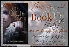 Enter to #win a $25 Amazon Gift Card or a paperback copy of City of Cruelty and Copper by Rhiannon Paille in the #bookblast #giveaway