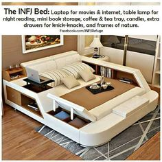 This would be awesome. I for the bedroom. One for the Living room!''The INFJ Bed'' source: INFJ Refuge I want this~ Infj