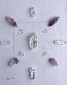 ADDICTION GRID Crystal Grid Framed Wall Art
