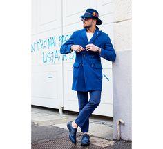 Street looks à la Fashion Week homme automne-hiver 2015-2016 de Milan.