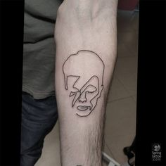 #David #Bowie #tattoo... Posted at http://springtattoo.com/eng/daily-tattoos-and-news/
