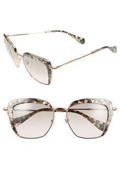 73392289358 Miu Miu 53mm Sunglasses available at  Nordstrom Sunglasses Shop