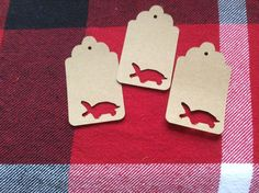Die Cut Painted Turtle Tag by NatureCuts on Etsy