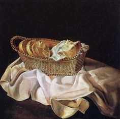 Salvador Dali >> The Basket of Bread, 1926  |  (Oil, artwork, reproduction, copy, painting).