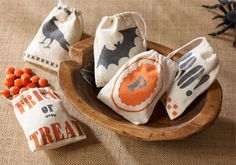 Pick up Martha Stewart Crafts Decoupage to make these spooky treat bags and then make a project for the Dare to Decoupage Challenge! Click through to enter! #marthastewartcrafts