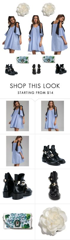 """""""~fresh❄️~"""" by hibaezzarouali ❤ liked on Polyvore featuring Balenciaga, Dolce&Gabbana and Cara"""