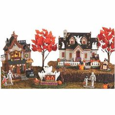 Lemax® Spooky Town® Collection || from what is shown here, I have two autumn trees, on BOGO, but am returning because scale is off