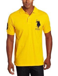 U.S. Polo Assn. Men's Solid Polo With Big Pony, Egg Yoke, Large