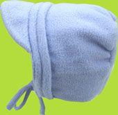 Blue Horizontal Bias Fleece Boys Bonnet